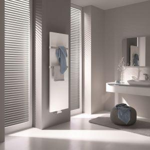 Grzejnik Pateo to typowy płaski grzejnik dekoracyjny z obłymi krawędziami. Można go zamontować w każdym pomieszczeniu. Fot. Kermi