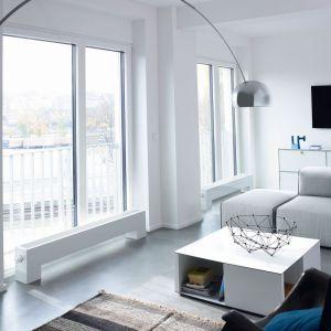 Grzejnik Stana Neo do montażu na podłodze, przy oknie lub we wnęce. Zapewnia optymalne rozprowadzenie ogrzanego powietrza w całym pomieszczeniu. Posiada wbudowane wentylatory. Fot. Zehnder