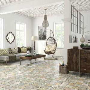 Dekory paneli laminowanych Loft Cerama  są stylizowane na marokańską ceramikę. Fot. Classen / RuckZuck