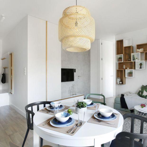 Małe mieszkanie w stylu skandynawskim - piękne wnętrze