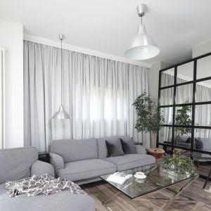 Aranżacja salonu: wybieramy jasne barwy. Projekt: Wioleta Wójcik-Maciuszek Fot. Bartosz Jarosz