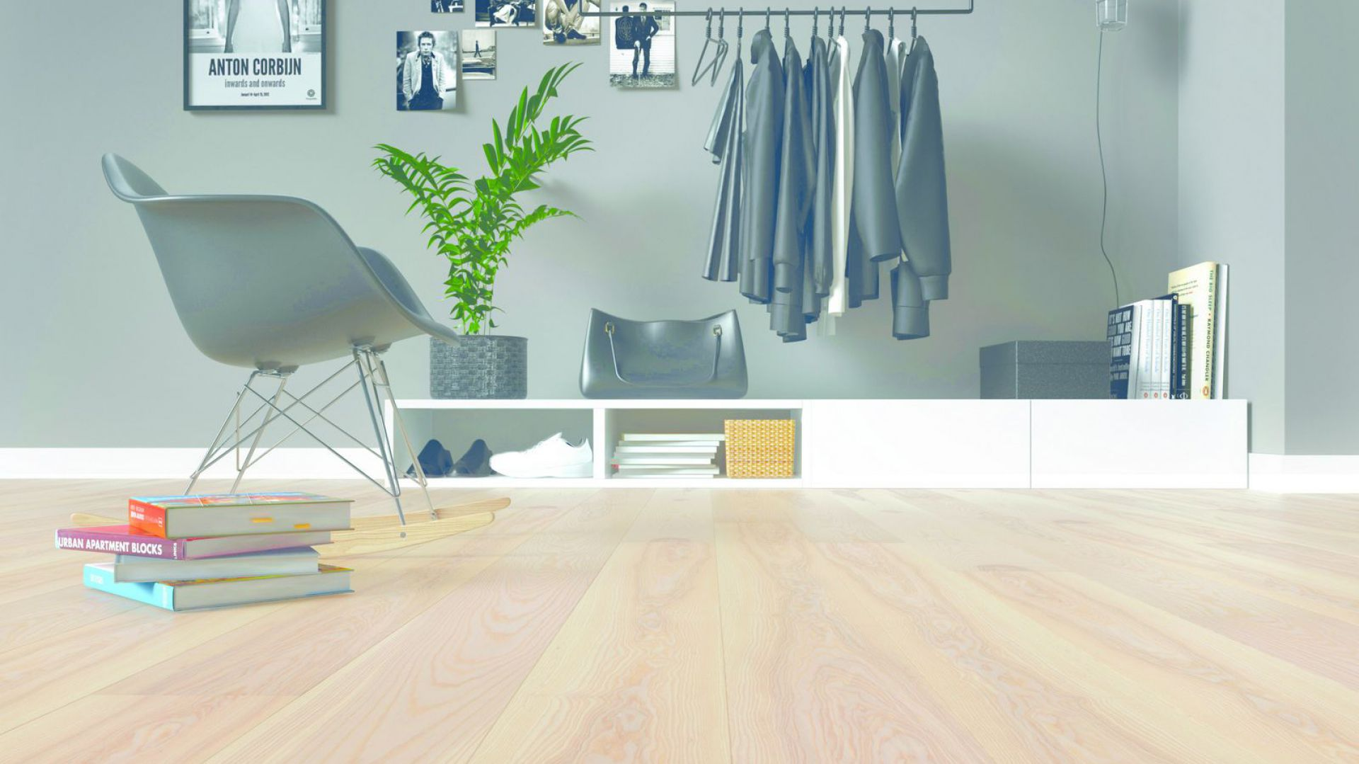 Podłoga Jazzy Swing w kolorze Jesion, bialy olej eco szczotkowany. Fot. Baltic Wood