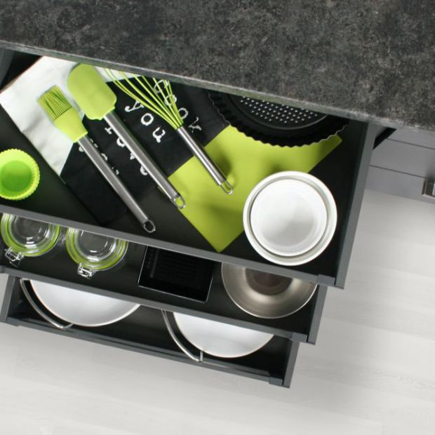 Szafki w kuchni - wybierz praktyczne szuflady