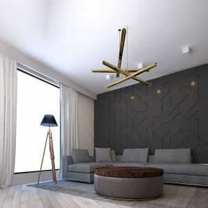 Atutem paneli architektonicznych Pulano jest trójwymiarowa faktura, która czyni ścianę jednym z głównych bohaterów wnętrza. Panele dostępne są w kilkudziesięciu wzorach podzielonych na kolekcje. Motywem przewodnim każdej kolekcji są określone motywy geometryczne. Fot. Dekorian