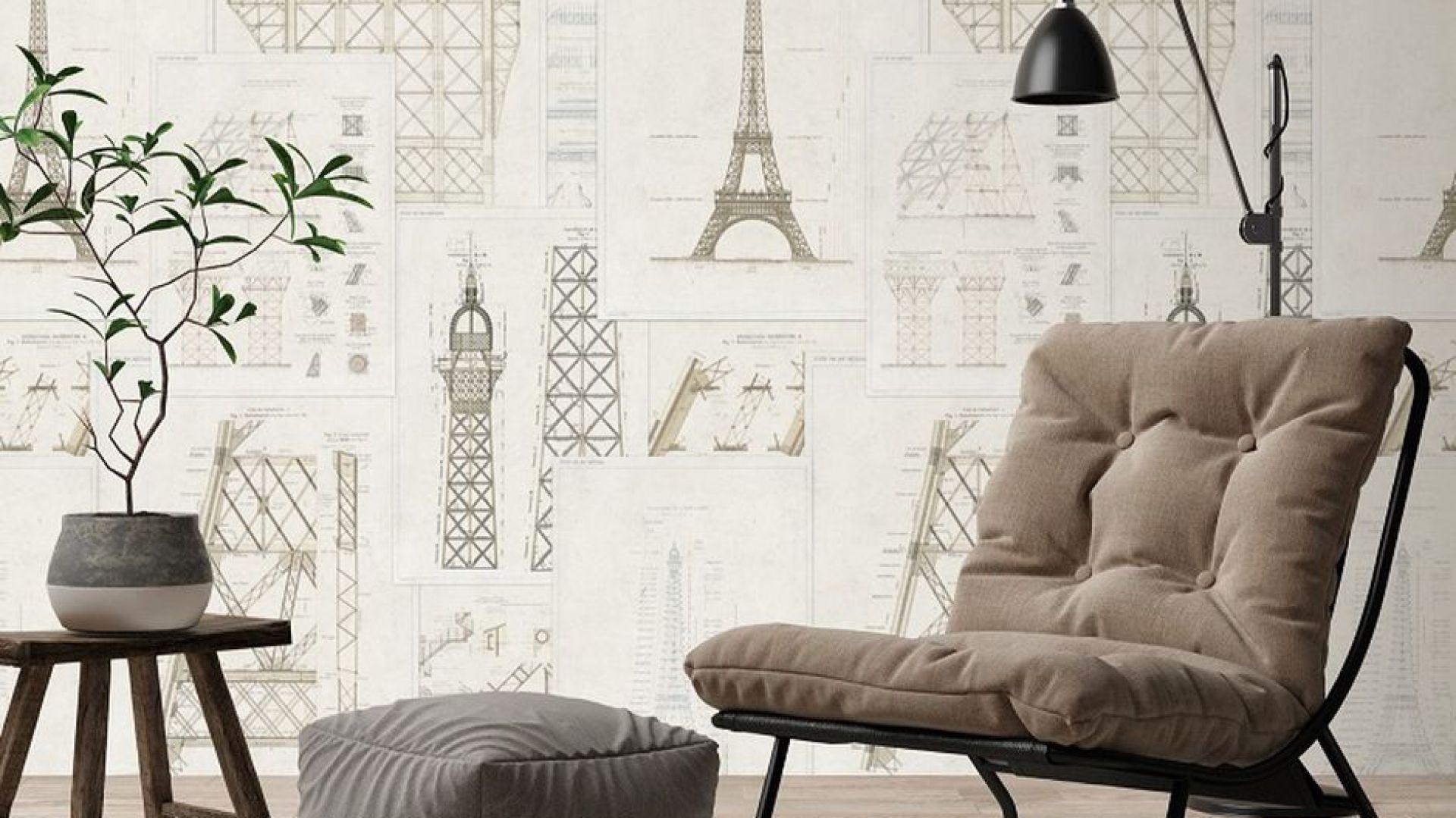 Tapety z kolekcji Histoire de L'Architecture. Fot. MindTheGap / Dekorian Home