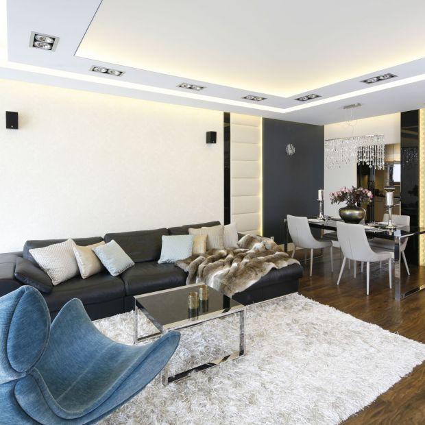Luksusowy salon - 10 wnętrz z polskich domów