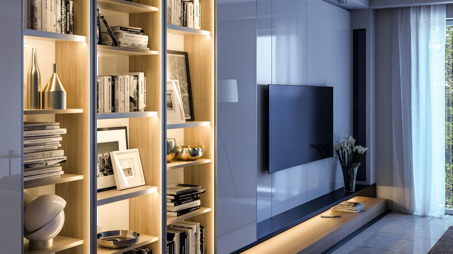 Taśmy LED oraz profile GLAX stwarzają nieograniczone możliwości aranżacyjne. Fot. GTV