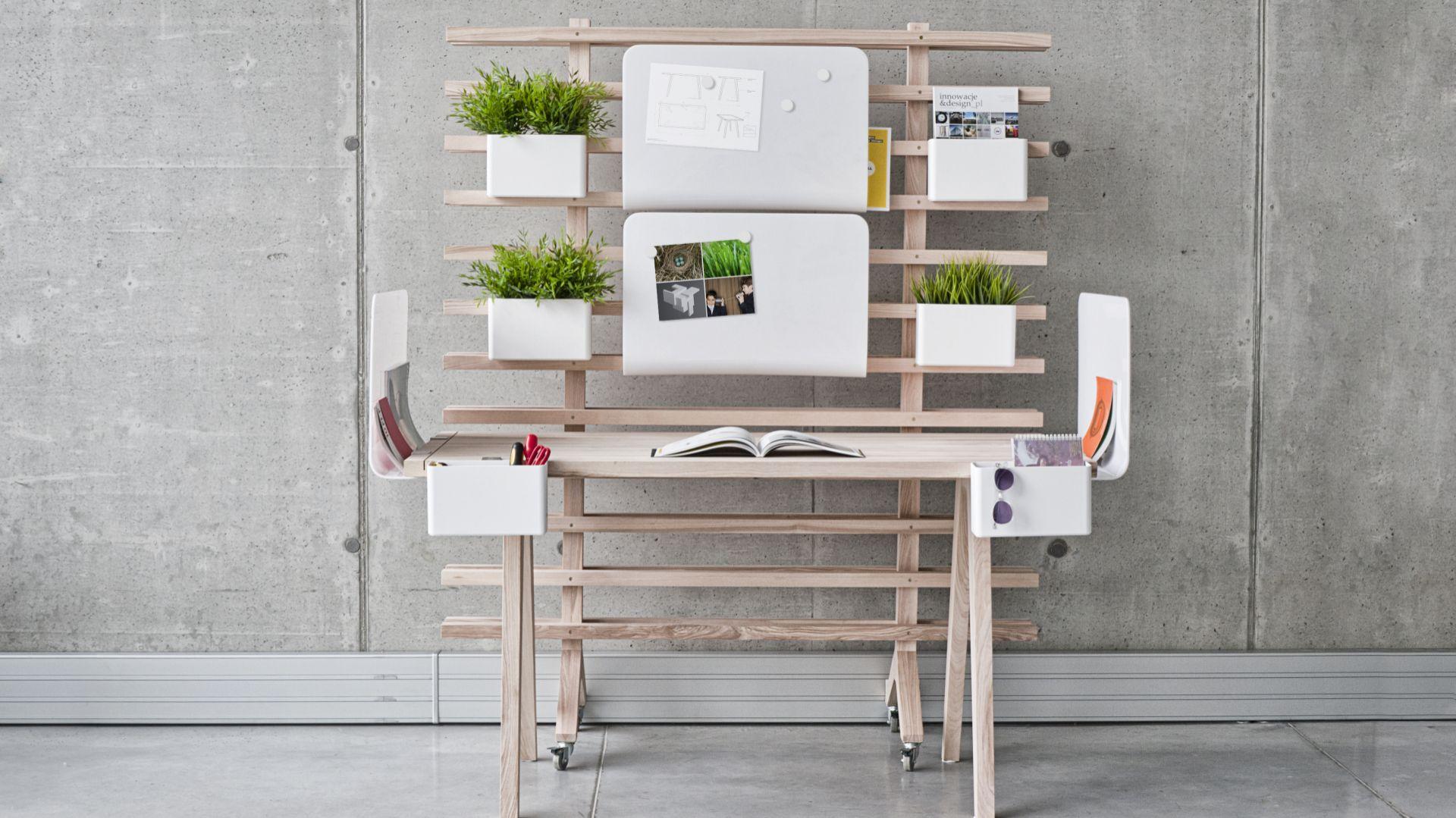 Personalizowane biurko Worknest to praca dyplomowa Wiktorii Lenart, która odbiła się szerokim echem w środowisku projektantów. Fot. Studio Lenart