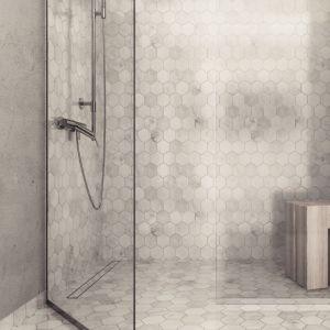 Dzięki regulowanej ramie i nasadzie odpływ prysznicowy Linearis Comfort dopasowuje się do różnych wysokości podłogi od 8 do 22 mm, w tym także do kamienia naturalnego. Pokrywę ze stali nierdzewnej można odwrócić i wypełnić płytkami. Gładka i łatwa do czyszczenia powierzchnia zapewnia efekt samooczyszczenia. Dostępne długości odpływu (mm): 750, 850, 950, 1050 i 1150. Fot. Natalia Hrehowicz