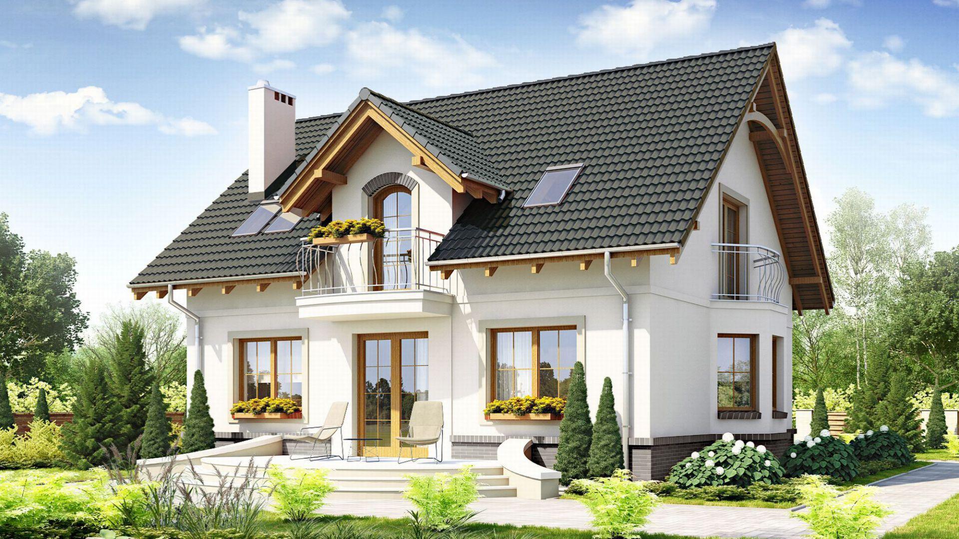 Wykończenie elewacji - tynk. Projekt: Dom dla ciebie 1. Fot. Dom dla Ciebie Pracownia Projektowa Archeco