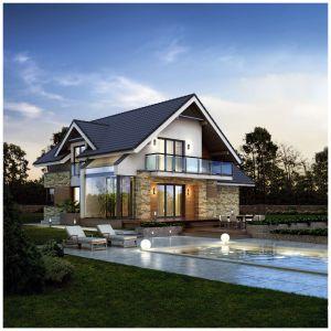 Kamień to materiał drogi, ale pięknie prezentujący się na elewacji domu. Na zdjęciu: kamień Niagara. Fot. Stone Master