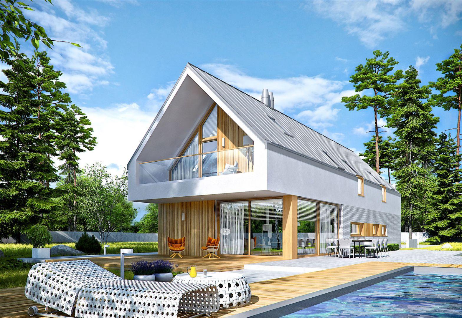 EX 20 G2 Energo Plus udowadnia, że dom na wąską działkę wcale nie musi mieć małej powierzchni użytkowej. Dom EX 20 G2 Energo Plus. Projekt: arch. Artur Wójciak. Fot. Pracownia Projektowa Archipelag