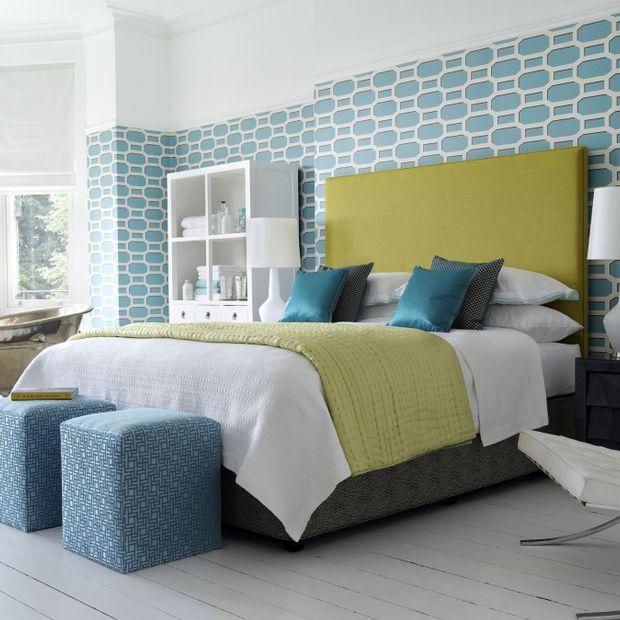 Nowoczesna sypialnia w kolorach lata