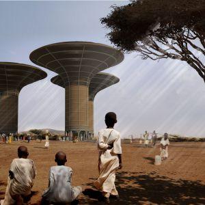 Inspiracją dla stworzenia projekty Wieży Wodnej w Sudanie był artykuł przeczytany w National Geographic. Fot. UGO Architecture