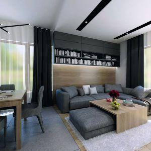 Wnętrze domu jest niezwykle funkcjonalne i wygodne w użytkowaniu. Dom Decyma 6. Projekt: arch. Tomasz Sobieszuk. Fot. Domy w Stylu