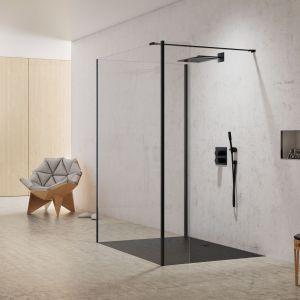 New Modus Black –  kabina prysznicowa typu walk-in z czarnymi profilami. Fot. New Trendy
