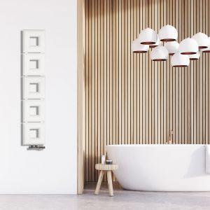 Stalowy grzejnik dekoracyjny Pilovs, zaprojektowany przez Karolinę Gazdę to znakomity przykład polskiego designu na światowym poziomie. Harmonijne połączenie prostego kształtu i funkcjonalności. Fot. Instal-Projekt