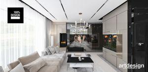 projekt salonu - ściana TV