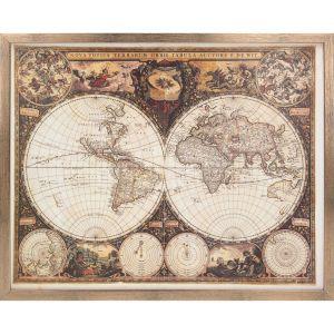 Pomysł na prezent na Dzień Ojca - obraz World Map. Fot. Dekoria.pl