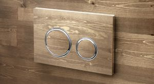 Model Sigma21 - designerski przycisk spłukujący - posiada okrągłe, elegancki zaokrąglone przyciski spłukiwania oraz unikatowe wykończenie ze szkła lub łupka.