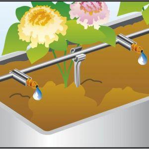 Podlewanie roślin - automatyczna konewka. Fot. Gardena