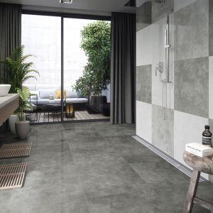 Bianco, gris, antracyt to kolory gresów z kolekcji w Apenino w wykończeniu lappato i formacie 59,7x59,7 cm. Fot. Cerrad