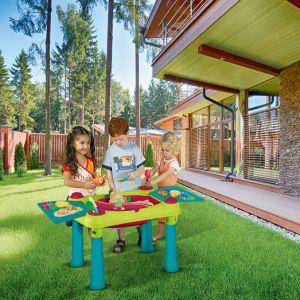 Kącik zabaw dla dzieci w ogrodzie: Creative Play Table. Fot. Keter