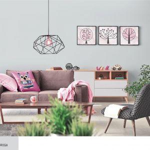 Aranżacja sypialni - kwiatowe wzory. Fot. Śnieżka