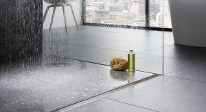 Prysznice bez brodzika z odpływami liniowymi to obecnie jeden znajważniejszych trendów łazienkowych.