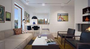 Malutki dom, o powierzchni nieco ponad 75 mkw, został zaprojektowany praktycznie i z dużym wyczuciem estetyki. Zapewni komfortowe mieszkanie 3-osobowej rodzinie lub stanie się komfortowym lokum jako dom letniskowy.