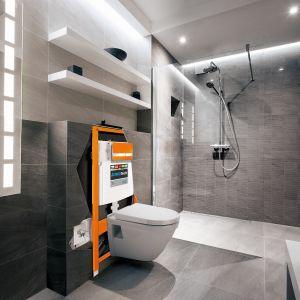 Stelaż samodzielny JOMOTech Hygienic do w.c. z funkcją bidetu, samonośny w wersji do zabudowy lekkiej. Fot. Werit