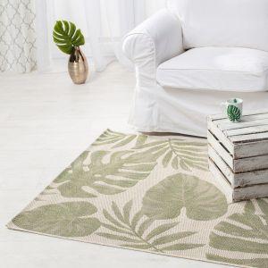 Dywan w salonie - Cottage wool - jungle green. Fot. Dekoria
