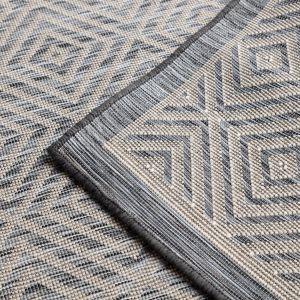 Dywan w salonie - Multi Plus charcoal grey. Fot. Dekoria