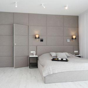 Oświetlenie w sypialni - modne rozwiązania. Projekt: Ewelina Pik, Maria Biegańska. Fot. Bartosz Jarosz