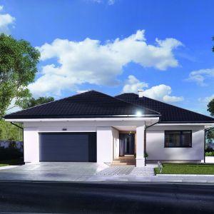 Prosta bryła i klasyczne barwy elewacji i dachu sprawią, że dom wpisze się w każde otoczenie. Dom Ariel 4. Projekt: arch. Tomasz Sobieszuk. Fot. Domy w Stylu