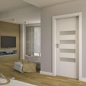 Połączenie płycin oraz szyb w drzwiach ramiakowych pozwala uzyskać różnorodne modele – od pełnych po przeszklone. Fot. Porta Drzwi