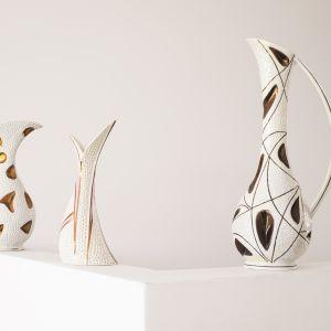 Na platformie Patyna znalazły się np. wazony reliefowe, Wytwórni Wyrobów Ceramicznych Steatyt w Katowicach. Zdjęcia: Eliza Dunajska, Max Zieliński