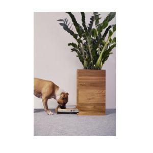 W ofercie Hau House znajdują się między innymi stoliki i komody ze zintegrowanym legowiskiem czy dębowa donica pełniąca rolę schowka na miskę dla psiaka. Zdjęcia: Hau House