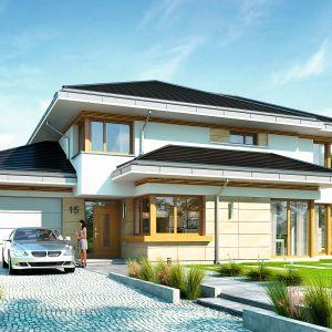 Dom z widokiem to nowoczesna willa, przeznaczoną dla 4-6-osobowej rodziny. Projekt: arch. Michał Gąsiorowski. Fot. MG Projekt