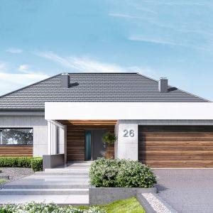 Home HomeKONCEPT 26 to nowoczesny dom o powierzchni 160 m2. Całości projektu dopełnia kotłownia z pralnią i pomieszczenie gospodarcze. Można do niego wejść od strony garażu i z zewnątrz od strony ogrodu/tarasu. Projekt: HomeKONCEPT