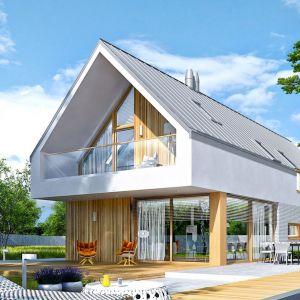 EX 20 G2 Energo Plus to świetna propozycja dla inwestorów, którzy posiadają wąską działkę i marzą o nowoczesnym domu w harmonii z ogrodem. Projekt: arch. Artur Wójciak. Fot. Pracownia Projektowa Archipelag