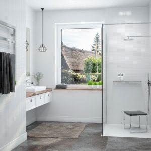 Łazienka dostosowana do potrzeb osób starszych. Fot. Sanplast