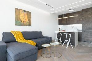 Apartament w Poznaniu - minimalizm w połączeniu z jakością materiałów. Projekt: LOFFT architektura Małgorzata Hendrych-Lubińska. Fot. AQForm