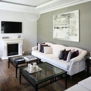 Piękny salon w stylu klasycznym. Projekt: Nowa Papiernia. Fot. Bartosz Jarosz