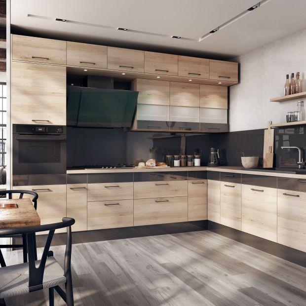 Zabudowa kuchenna - zobacz pomysły na górne szafki
