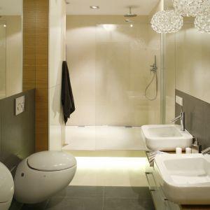 Prysznic w łazience. Projekt: Monika i Adam Bronikowscy. Fot. Bartosz Jarosz