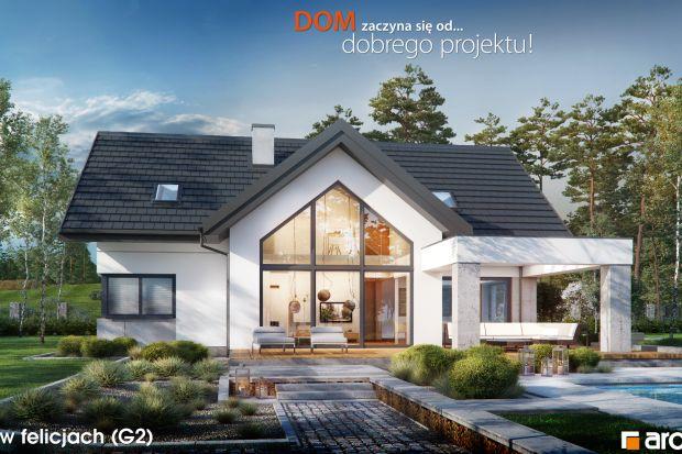 Przestronny, nowoczesny Dom w felicjach (G2). Zobacz projekt i aranżację wnętrz
