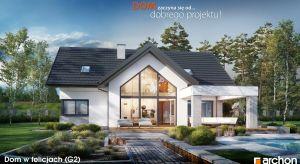 Wyjątkowy design, duże przeszklenia, przestronne wnętrza z antresolą - Dom w felicjach (G2) zachwyca komfortem i funkcjonalnością. Oryginalne detale urozmaicają bryłę domu i wraz z dużymi przeszkleniami zapewniają jej efektowny, nowoczesny wygl