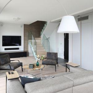 Fotel w salonie. Projekt: Magdalena Lehmann. Fot. Bartosz Jarosz