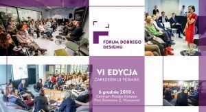 Forum Dobrego Designu - jedno z największych w Polsce wydarzeń poświęconych tematyce wzornictwa, odbędzie się 6 grudnia 2018 r. w Warszawie! Już dziś warto zarezerwować ten termin w kalendarzu!